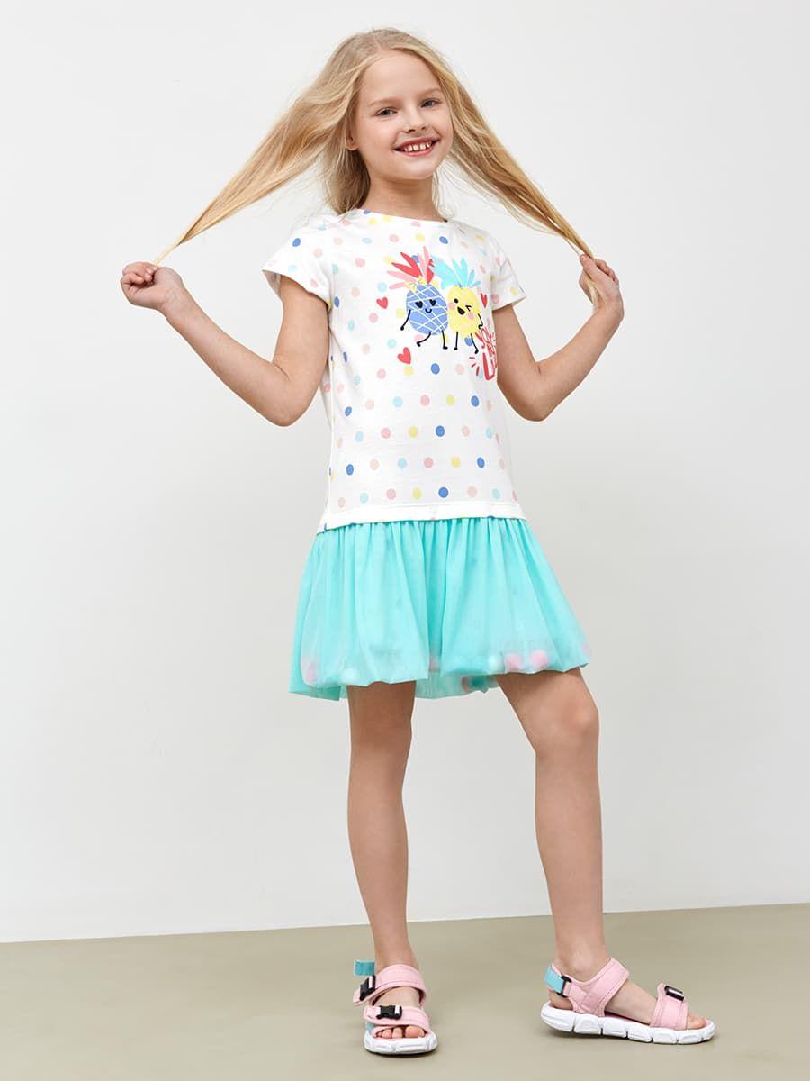 Платье с юбкой из сетки от Mark Formelle