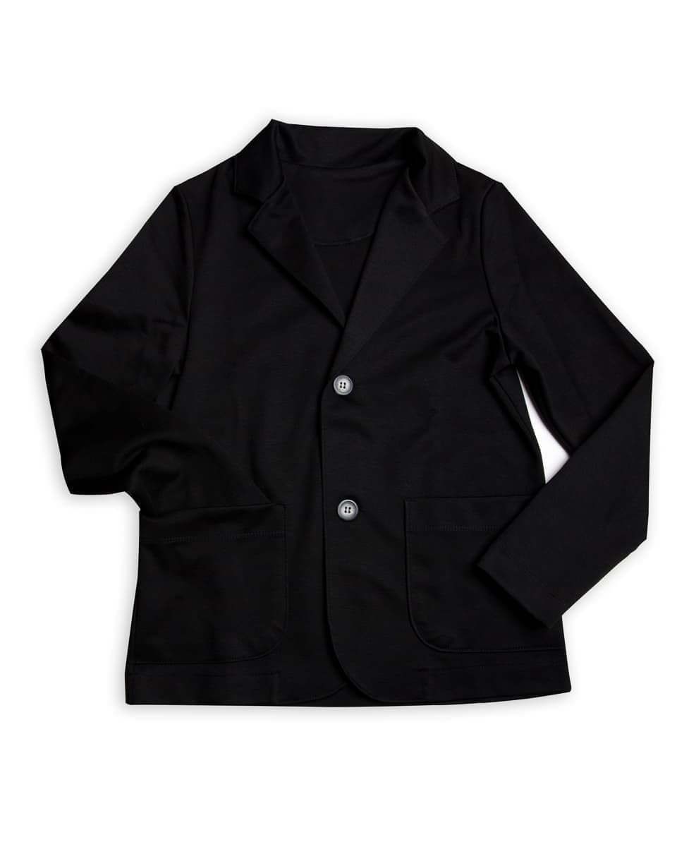 Трикотажный однобортный пиджак от Mark Formelle