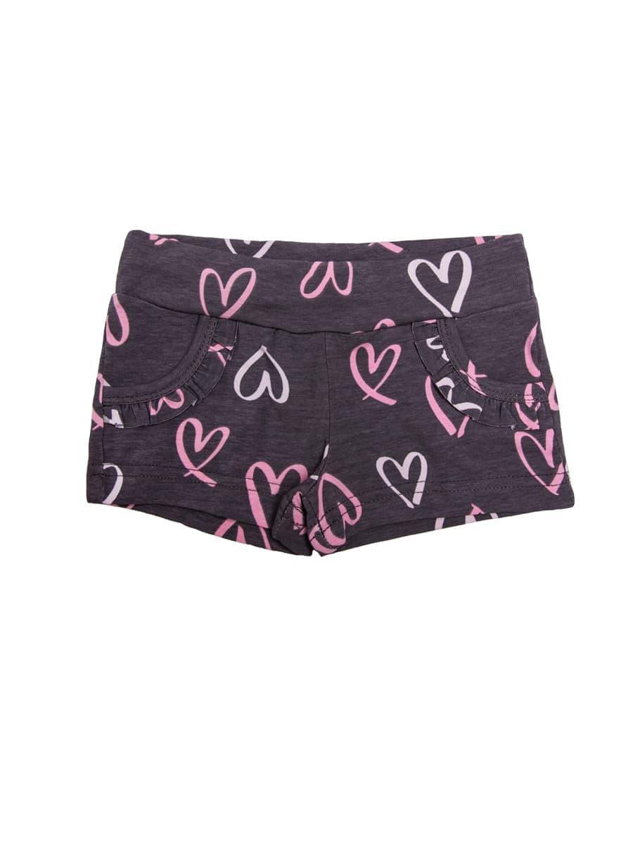 Короткие шорты с крупными сердечками от Mark Formelle