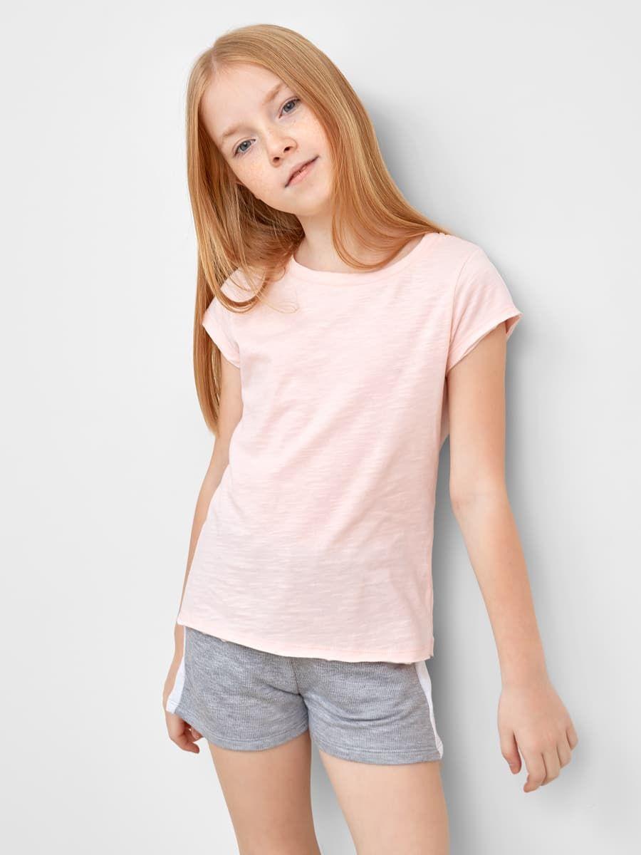 Однотонная футболка для девочек от Mark Formelle