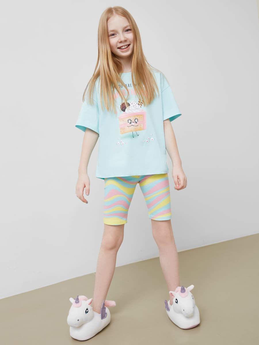 Пижама (футболка и шорты-велосипедки) от Mark Formelle