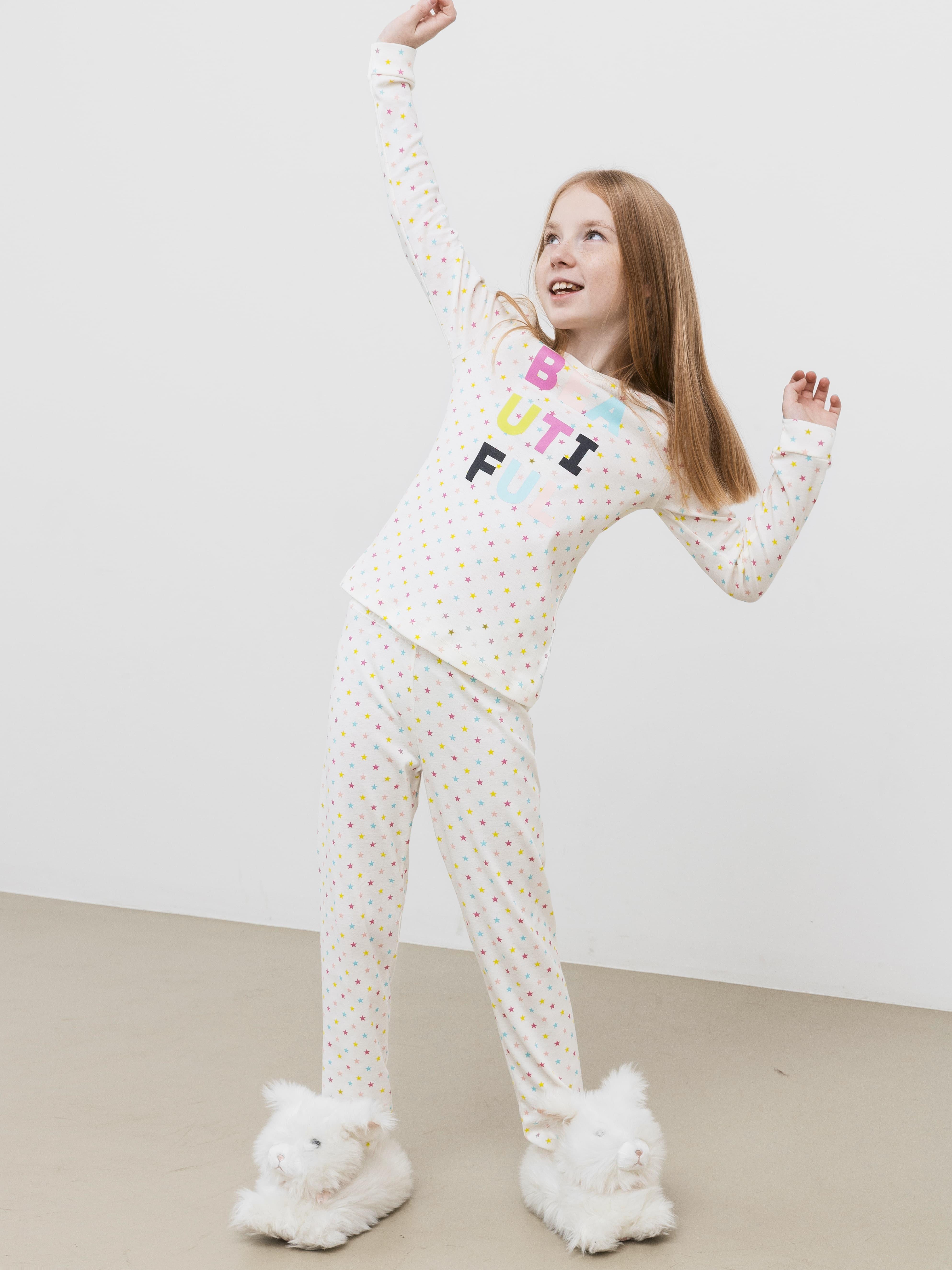 Пижамный комплект из лонгслива и брюк от Mark Formelle