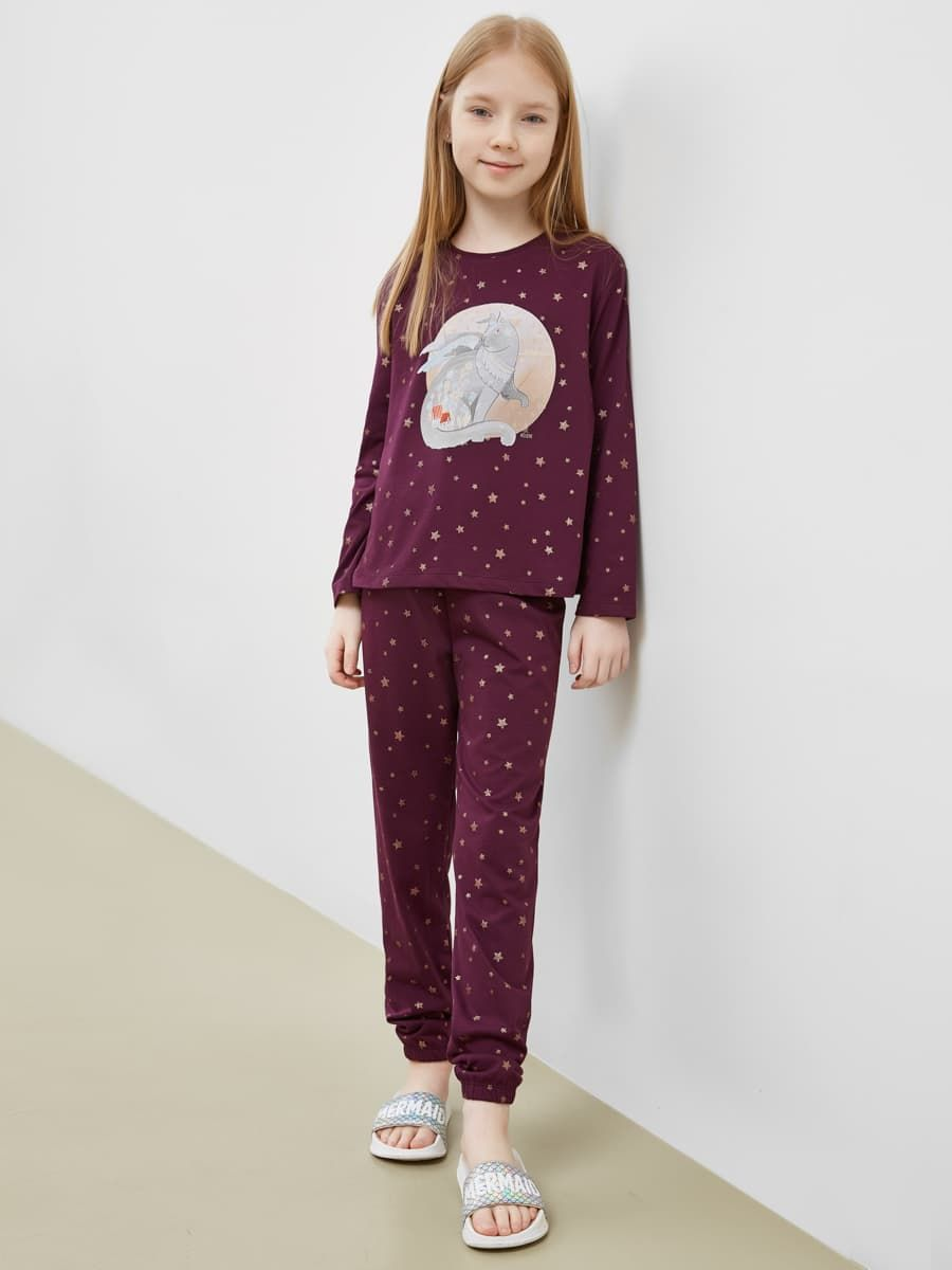 Пижама для девочки (лонгслив и брюки) от Mark Formelle