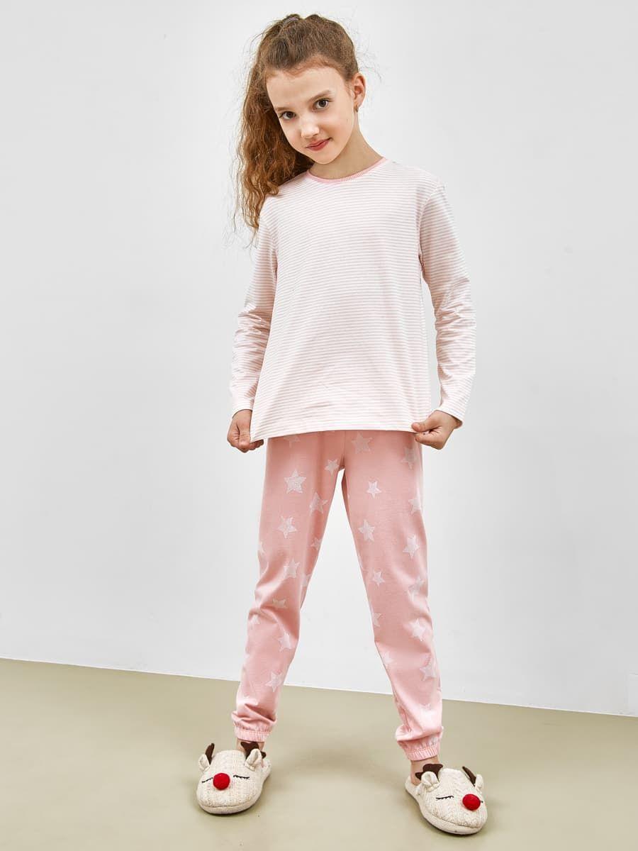 Пижамный комплект из фуфайки и брюк от Mark Formelle