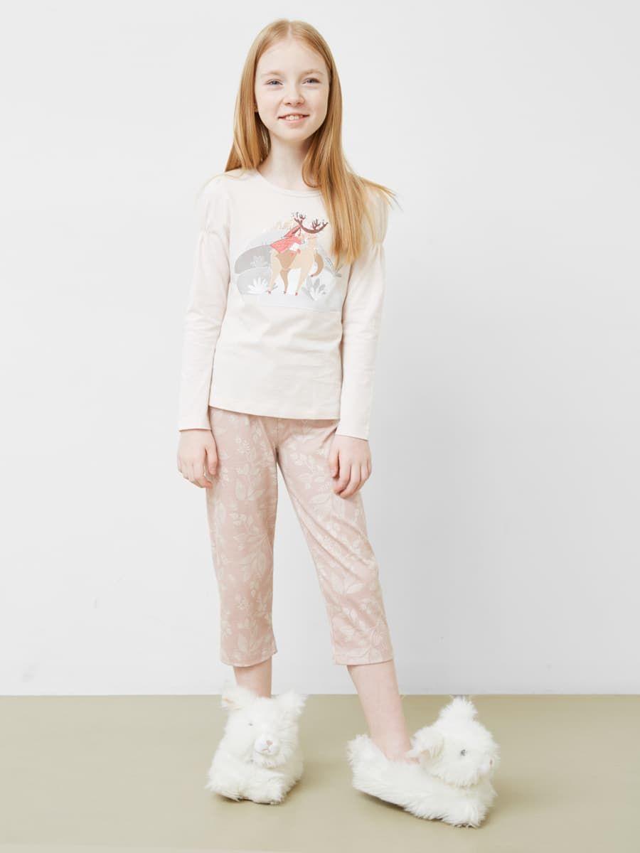 Пижама для девочки (лонгслив и бриджи) от Mark Formelle