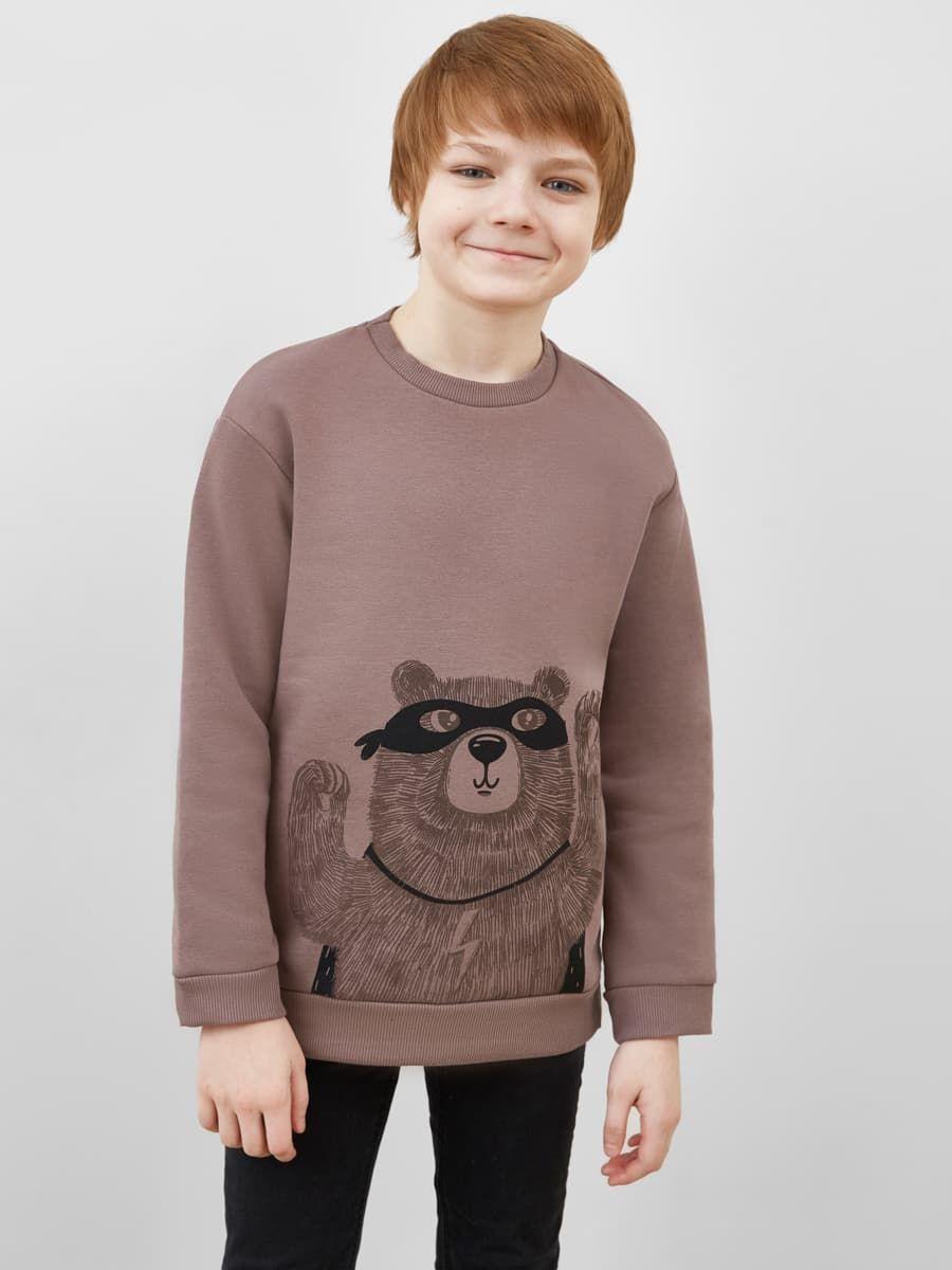 Удлиненный свитшот с медведем от Mark Formelle