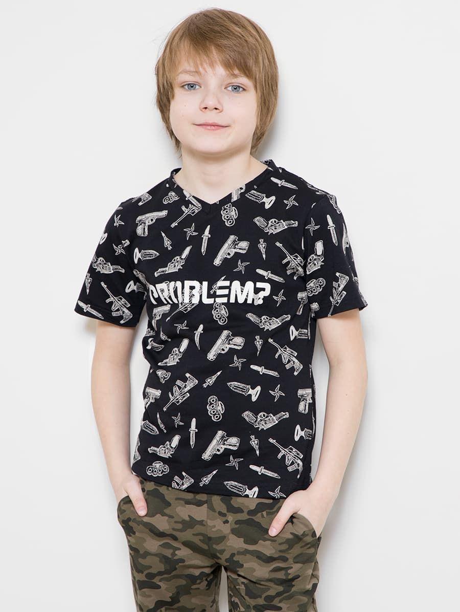 Хлопковая футболка с милитари-принтом от Mark Formelle