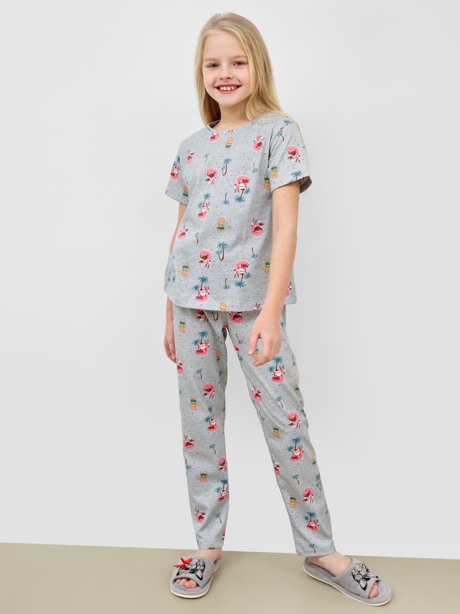 Новогодняя пижама с брюками и футболкой от Mark Formelle