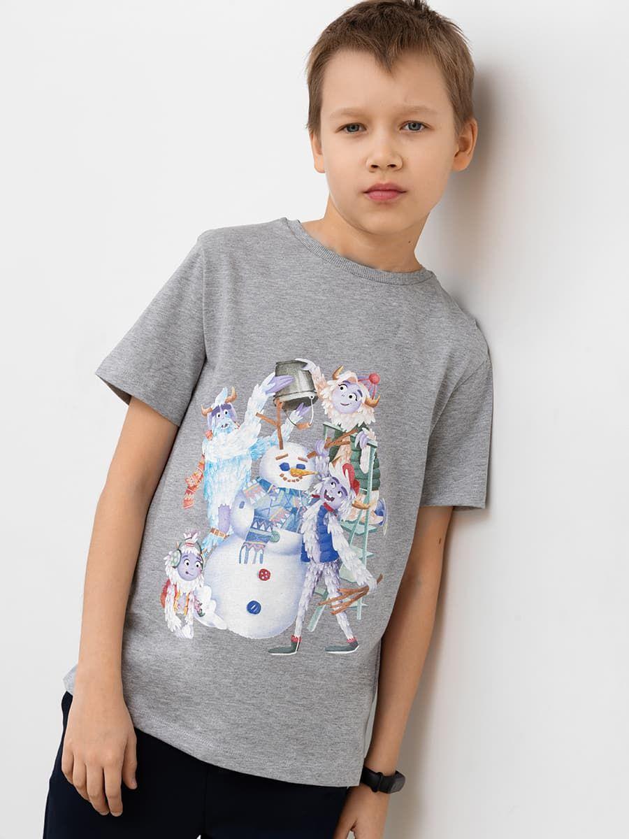 Хлопковая футболка с семейкой Йети от Mark Formelle