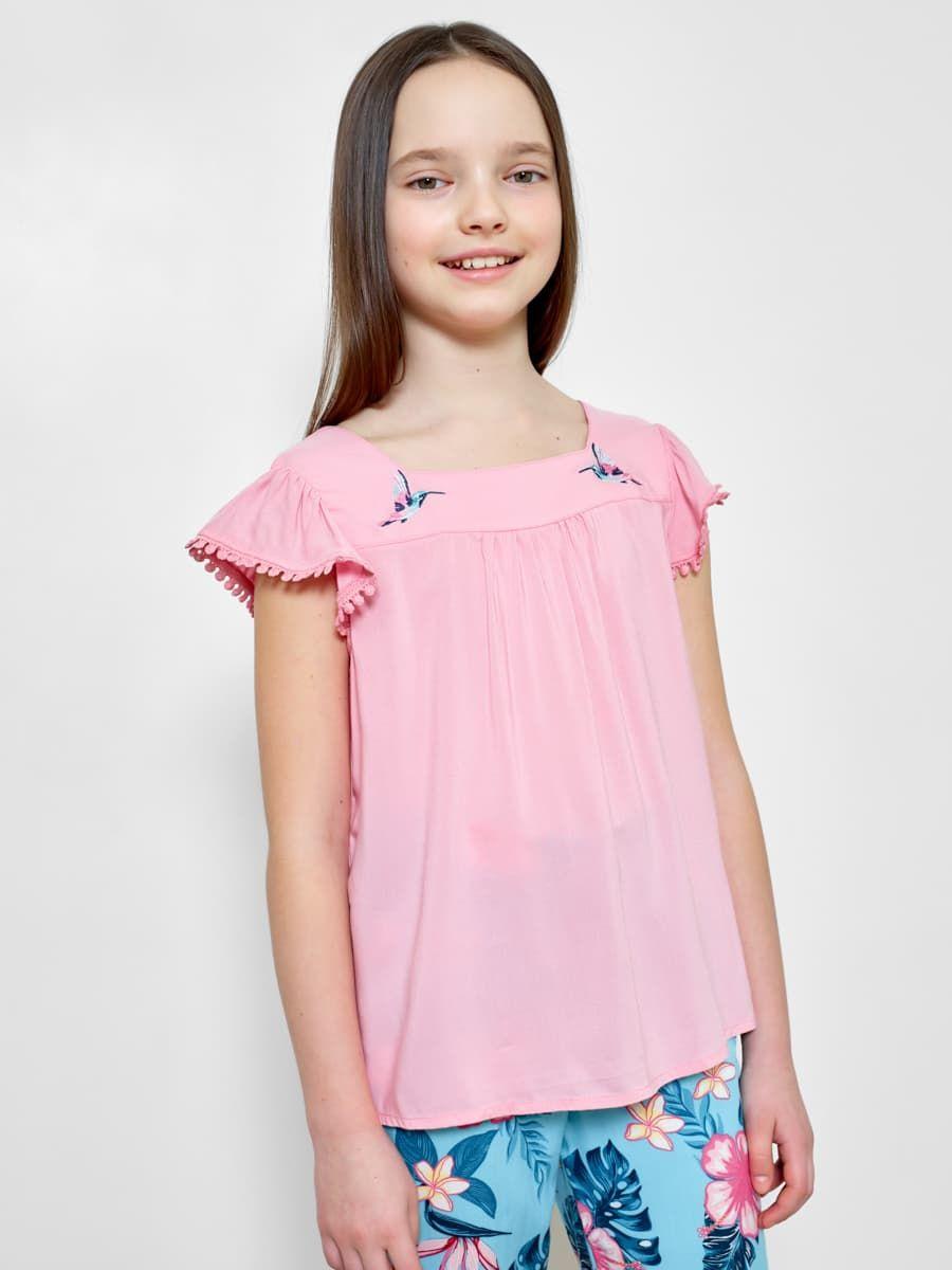 Блузка с рукавами-крылышками от Mark Formelle
