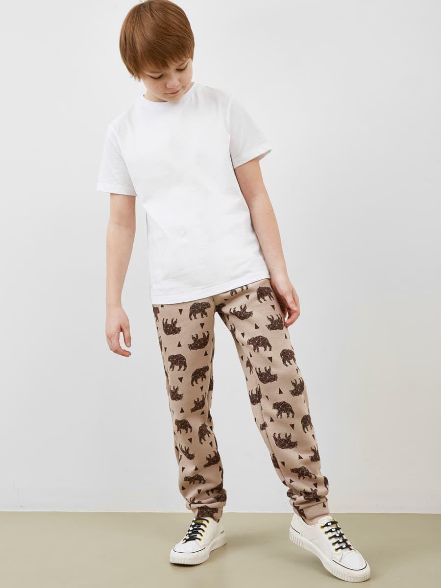 Спортивные брюки с  медведями от Mark Formelle