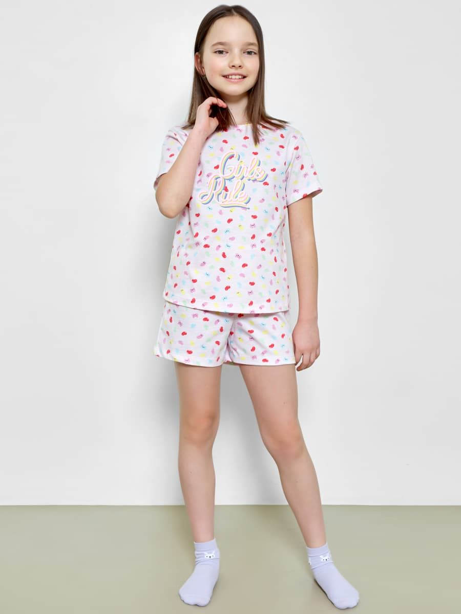 Пижама для девочек (футболка и мини-шорты) от Mark Formelle