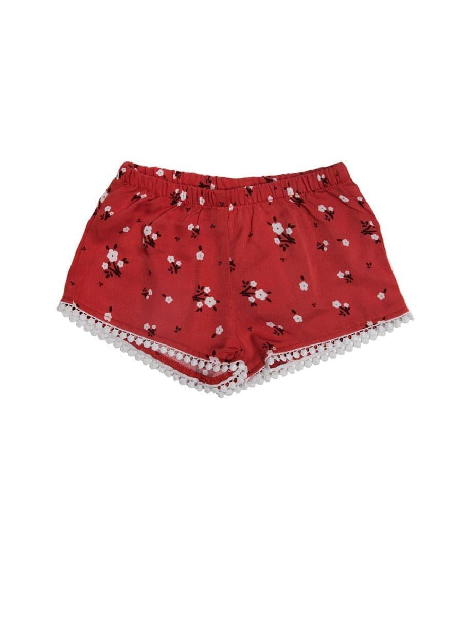 Короткие шорты с цветочным принтом от Mark Formelle
